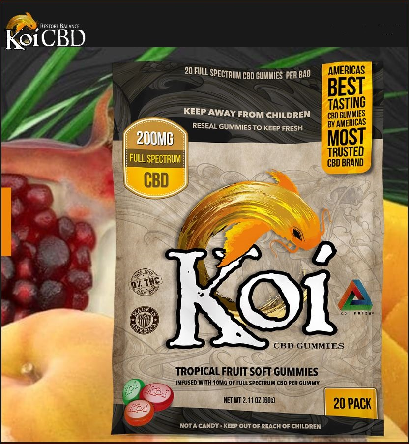 Koi Soft CBD Tropical Fruit Flavor Gummies