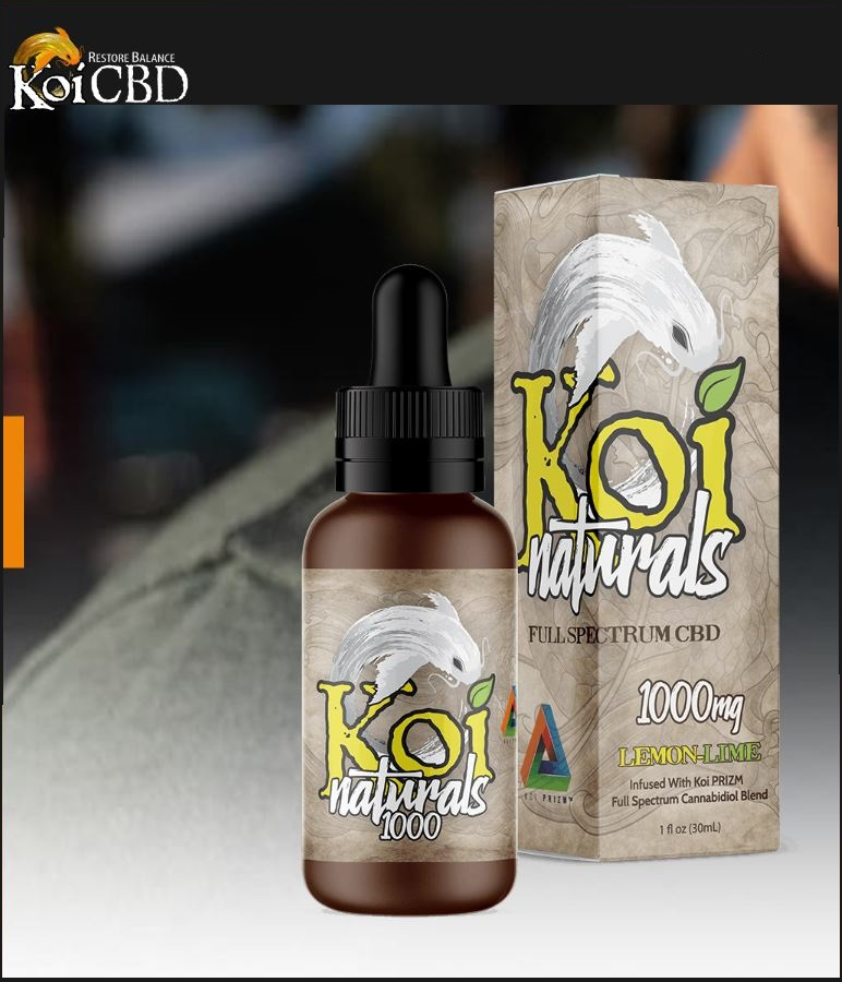 Koi Lemon-Lime Natural Full Spectrum CBD Tincture 250mg & 1000mg