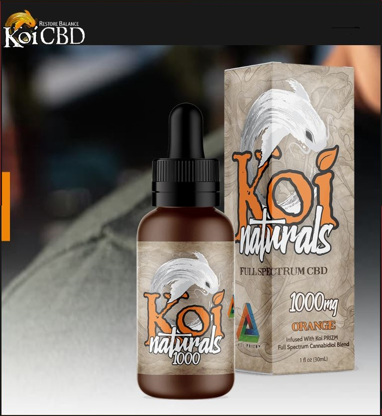 Koi Orange Natural Full Spectrum CBD Tincture 250mg & 1000mg