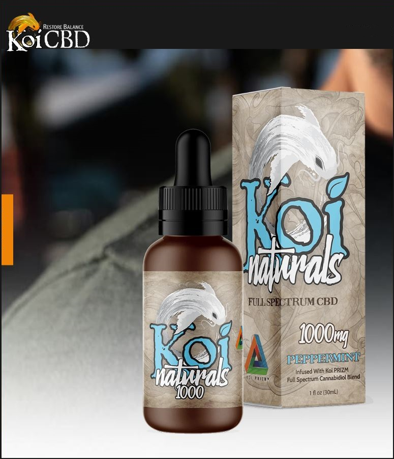 Koi Peppermint Natural Full Spectrum CBD Tincture 250mg & 1000mg