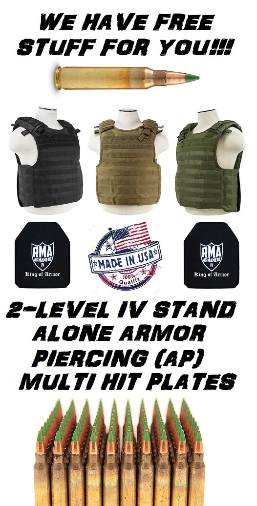 RMA 2 LEVEL IV HARD ARMOR PLATES & A Quick Release Plate Carrier SET NIJ .06 CERTIFIED